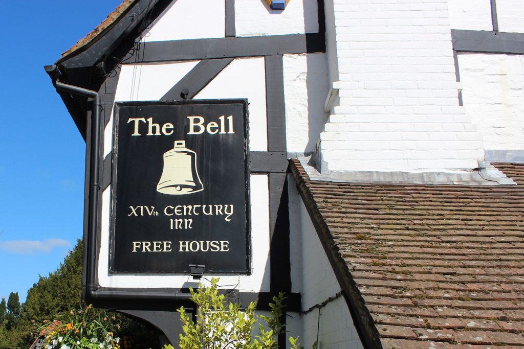 The Bell, Waltham St Lawrence exterior sign