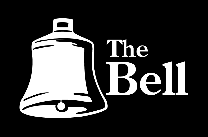 The Bell logo - white on black